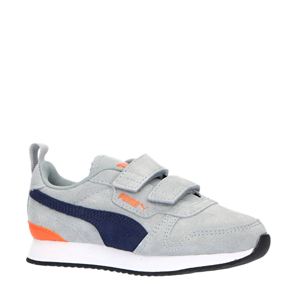 Puma R78 SD V PS sneakers grijs/donkerblauw/oranje, Grijs/donkerblauw/oranje