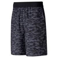 Puma   sportshort camouflageprint zwart, Zwart/grijs