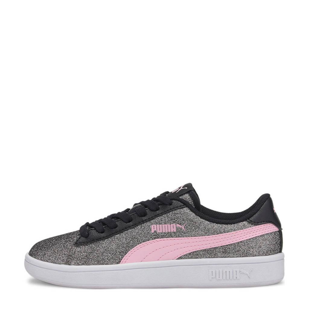 Puma Smash v2 Glitz Glam Jr sneakers zwart/roze, Zwart/roze