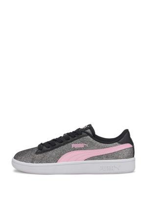 Smash v2 Glitz Glam Jr sneakers zwart/roze