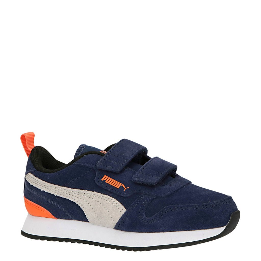 Puma R78 SD V PS sneakers donkerblauw/grijs/oranje, Donkerblauw/grijs/oranje