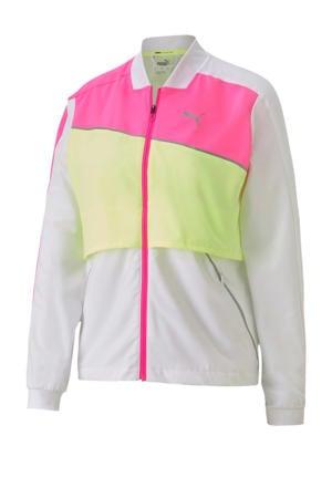 hardloopjack wit/geel/roze