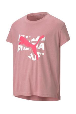 T-shirt roze/wit