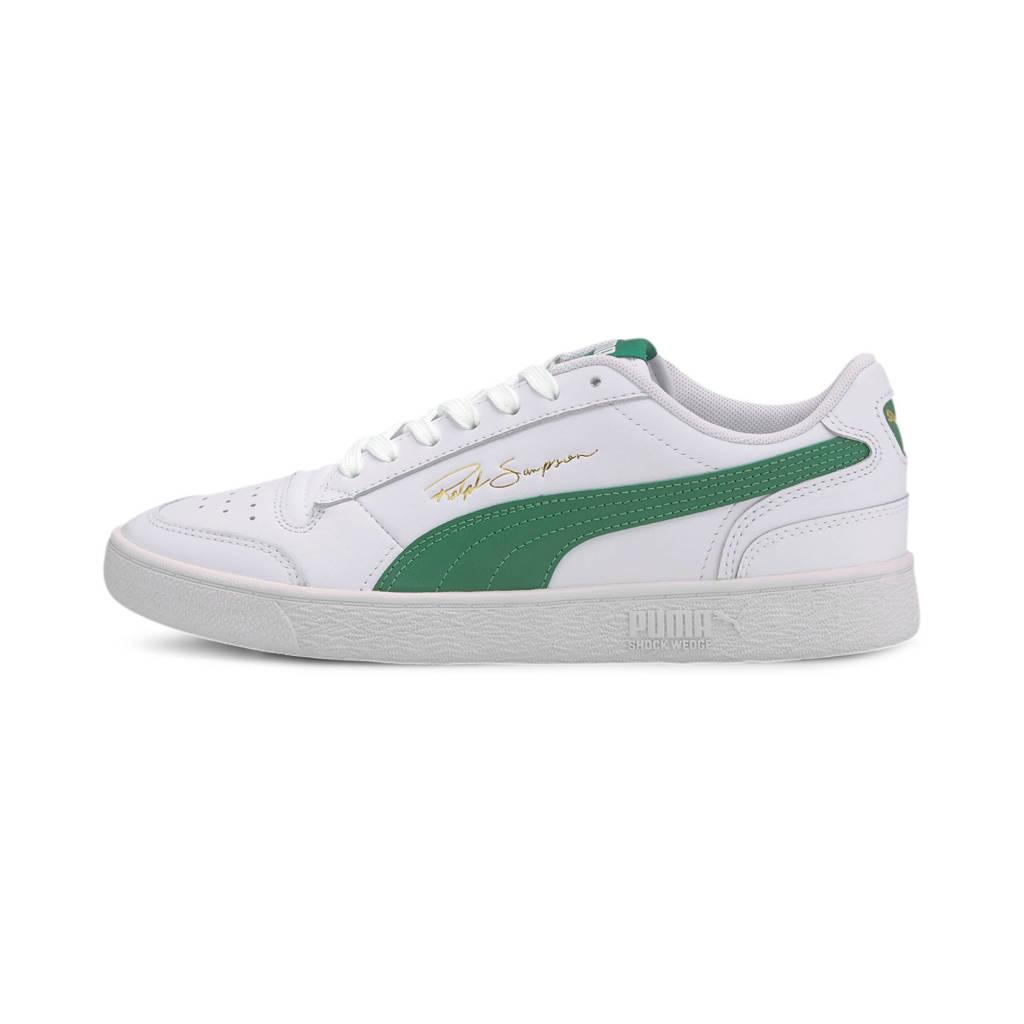 Puma Ralph Sampson Lo  leren sneakers wit/groen, Wit/groen