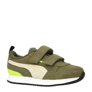 R78  sneakers olijfgroen/wit/limegroen