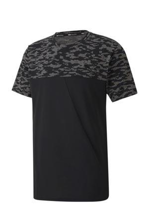 sport T-shirt zwart/antraciet