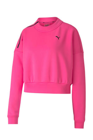 cropped sweater roze