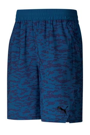 sportshort camouflageprint blauw