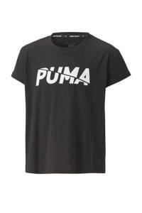 Puma T-shirt zwart, Zwart/wit