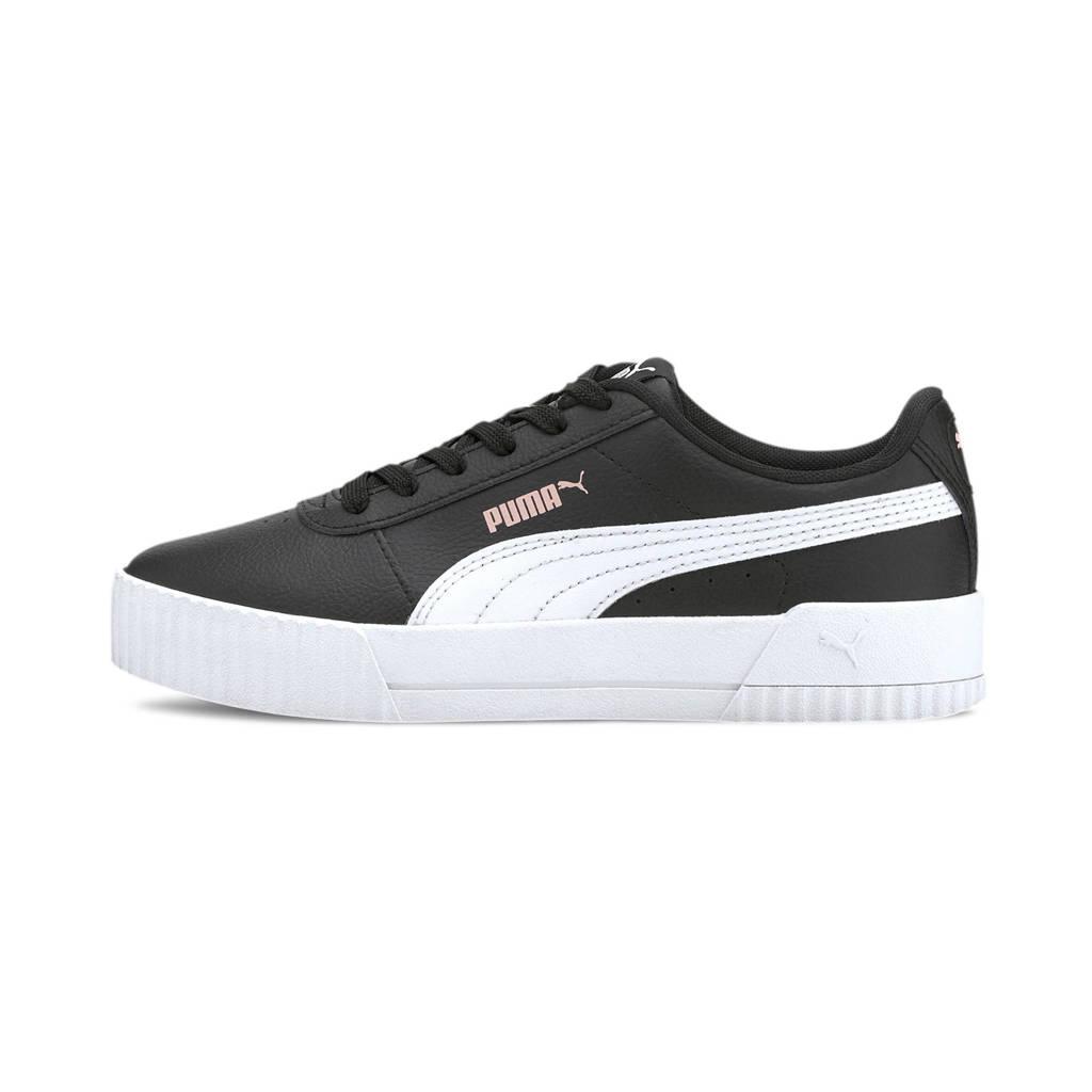 Puma Carina L Jr sneakers zwart/wit, Zwart/wit