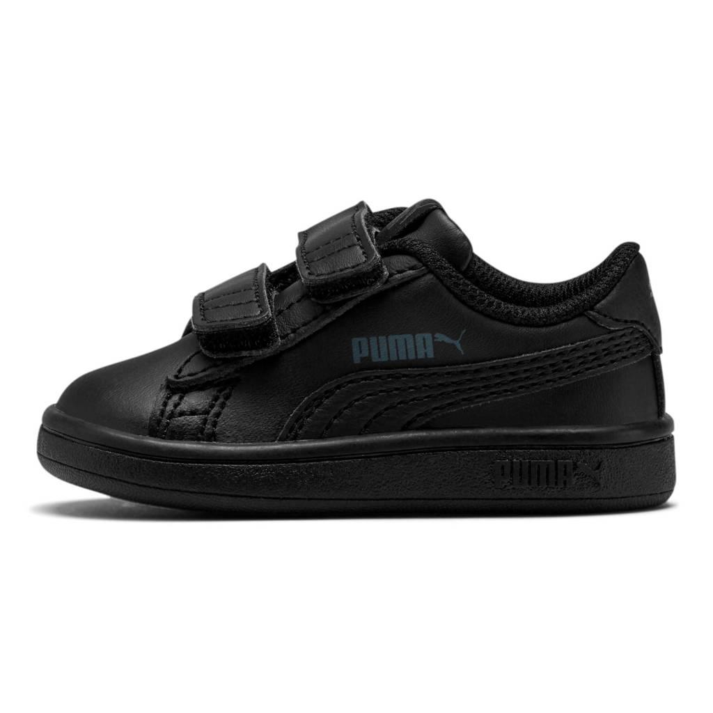 Puma Smash v2 L V Inf leren sneakers zwart, Zwart