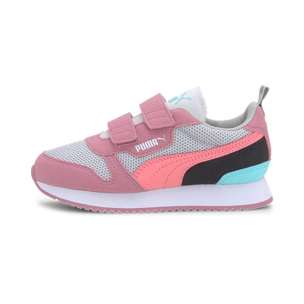 Puma R78 V PS sneakers lichtgrijs/roze/zwart, Lichtgrijs/roze/zwart