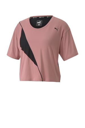 sport T-shirt oudroze/zwart