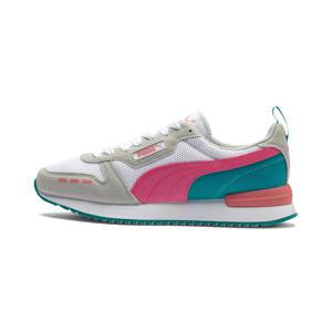 R78  sneakers wit/roze/petrol