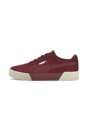 Carina  suède sneakers bordeaux/wit