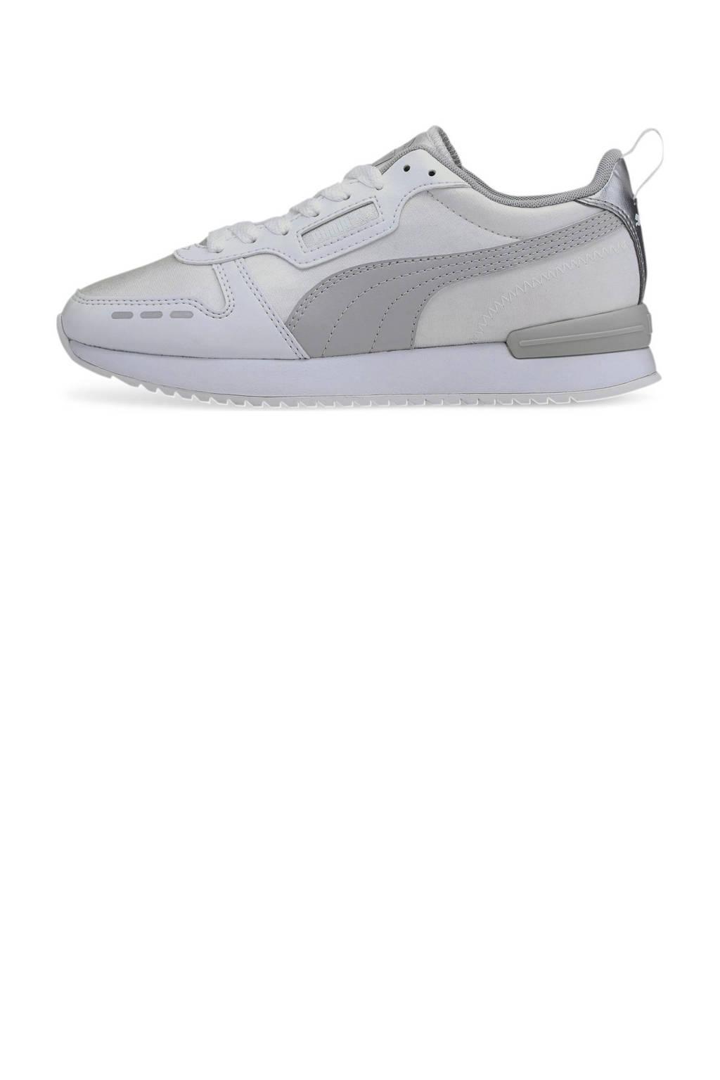 Puma R78 Metallic sneakers wit/lichtgrijs, Wit/lichtgrijs