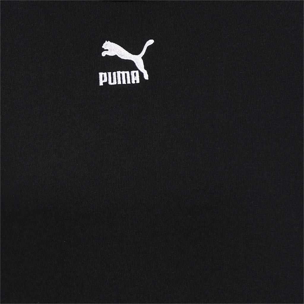 Puma cropped sweater wit/zwart, Zwart