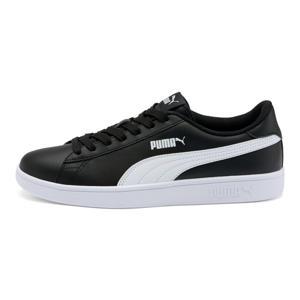 Smash v2  leren sneakers zwart/wit