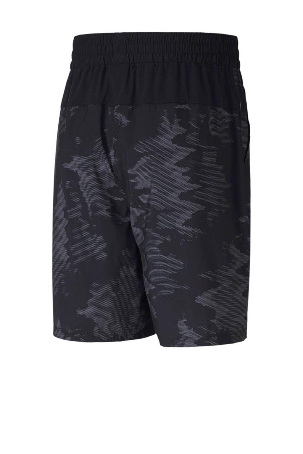 Puma   sportshort camouflageprint zwart/antraciet, Zwart/antraciet