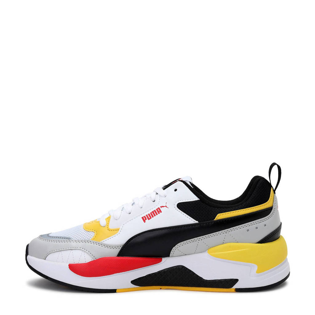 Puma X-Ray 2 Square  sneakers wit/rood/geel, Wit/rood/geel