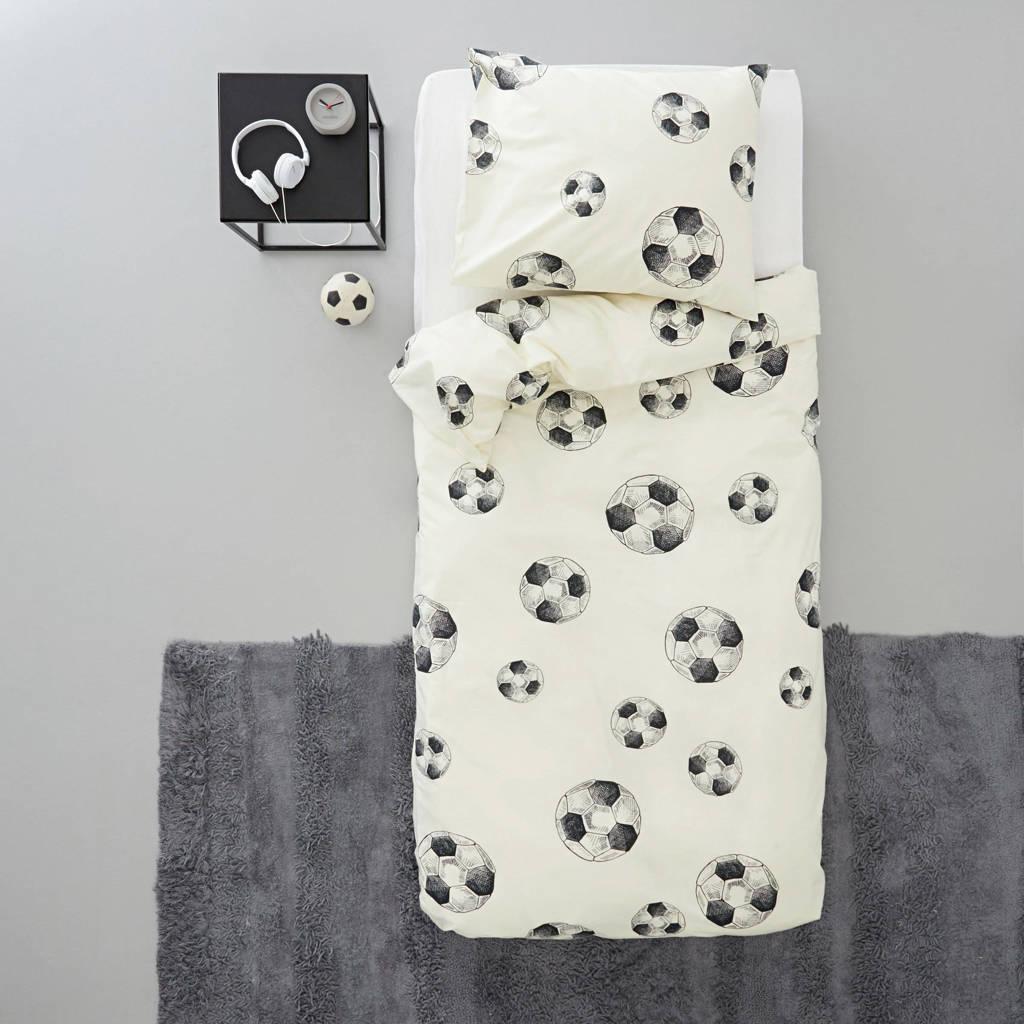 whkmp's own katoenen kinderdekbedovertrek, Wit, 1 persoons (140 cm breed)