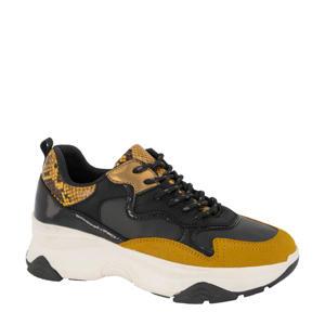 chunky sneakers okergeel/zwart