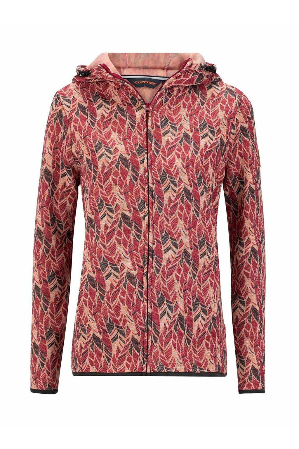 Life-Line fleece vest Silam roze/multi, Roze/multi
