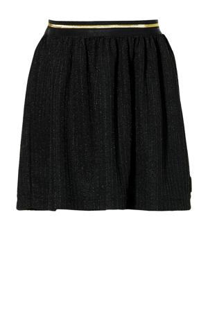 gestreepte rok Lois zwart