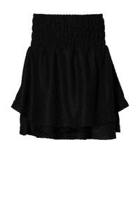 LEVV Girls rok Kenja met textuur zwart, Zwart