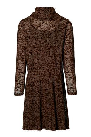 semi-transparante jurk Kaitlyn met panterprint bruin
