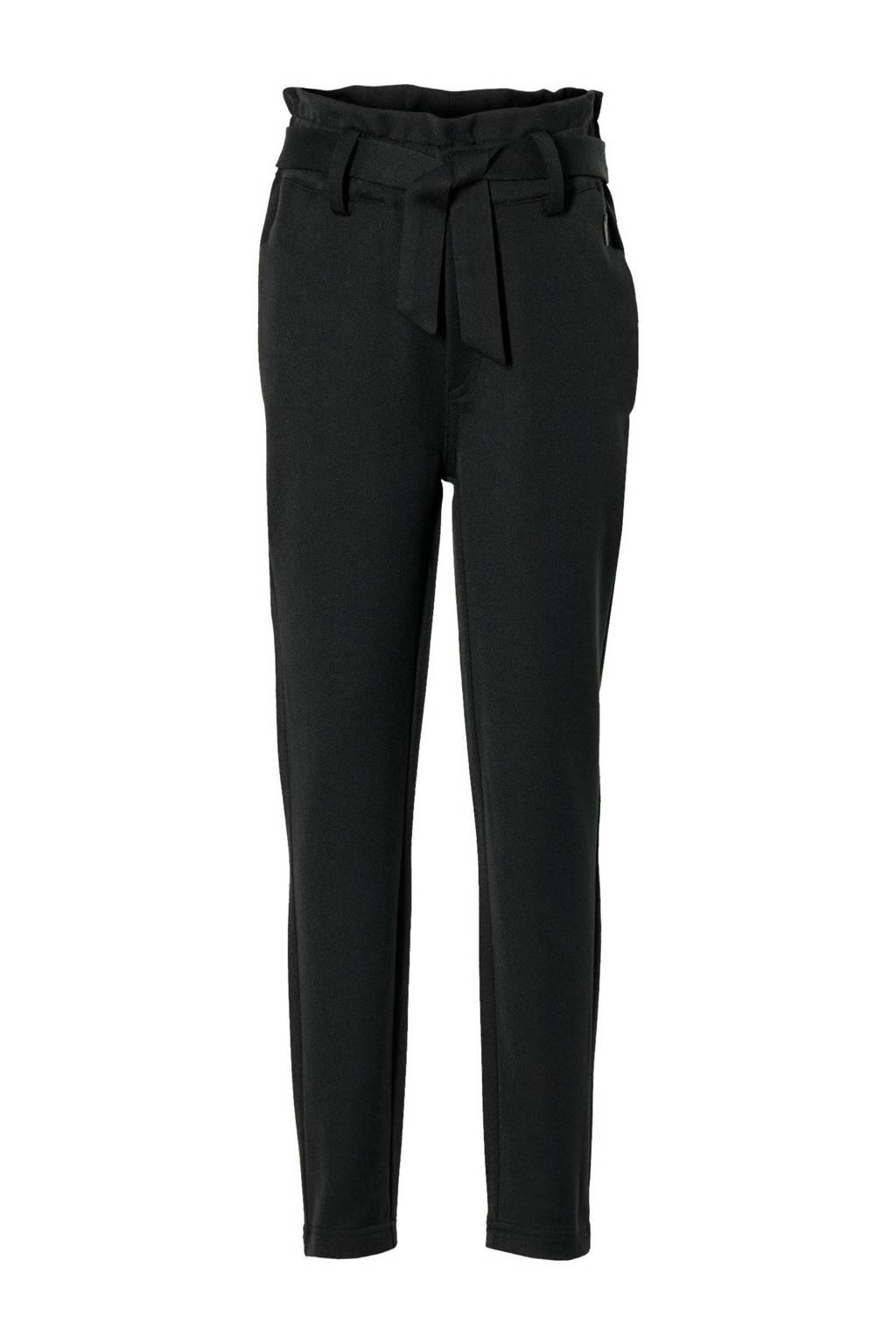 LEVV Girls regular fit broek Kensey zwart, Zwart