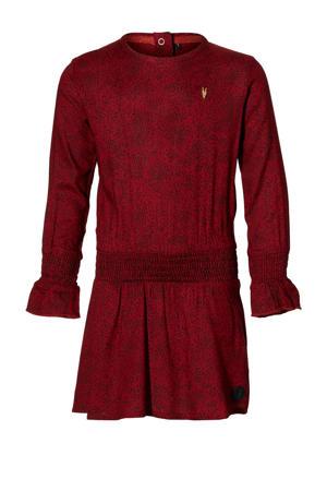 jurk Lenne met all over print donkerrood