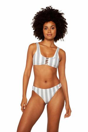 gestreepte bikini Simpel wit/grijs