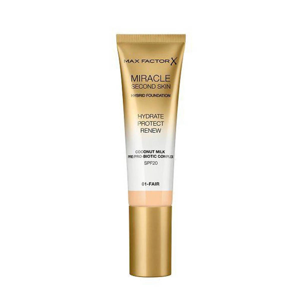 Max Factor Miracle Second Skin Foundation - 01 Fair