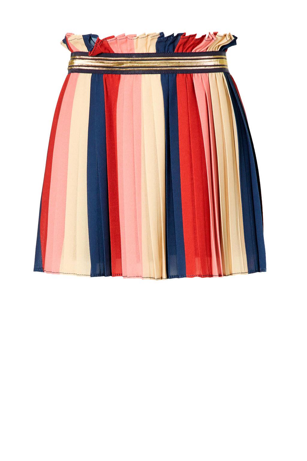 Quapi Mini gestreepte rok Emila roze/multicolor