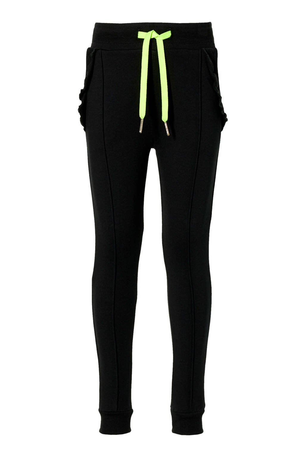 Quapi Girls regular fit broek Djoelle zwart, Zwart