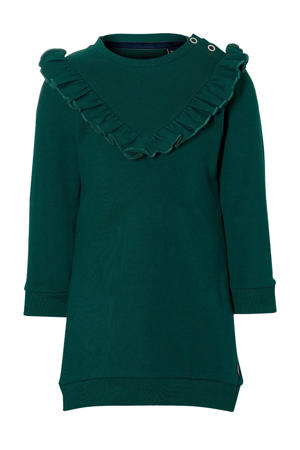 jurk Eloise met ruches groen