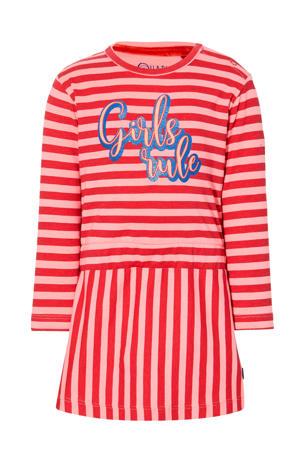 gestreepte jurk Ebby rood/roze