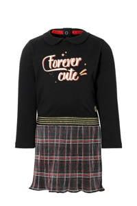 Quapi Mini geruite jurk Eefke zwart/rood, Zwart/rood