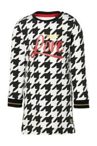 Quapi Mini jurk Evani met pied-de-poule zwart/wit, Zwart/wit