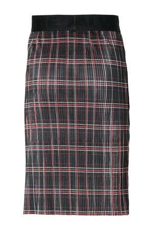 geruite rok Doenja zwart/rood