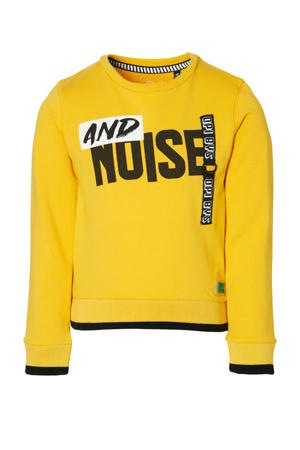 regular fit sweater Dies met printopdruk warm geel