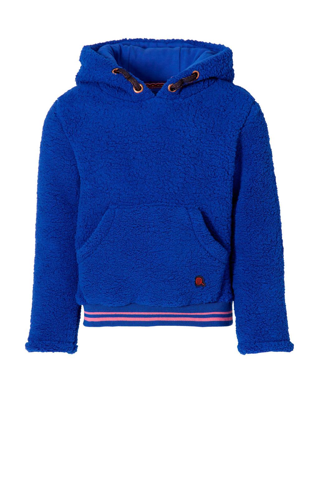 Quapi Girls hoodie Demilyn hardblauw, Hardblauw