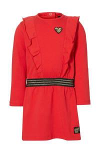 Quapi Mini jurk Elza met ruches rood, Rood