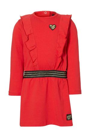 jurk Elza met ruches rood