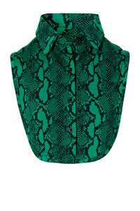 Quapi Girls losse kraag met crocoprint groen, Groen/zwart