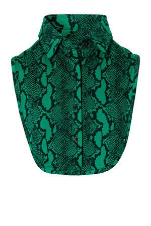 losse kraag met crocoprint groen