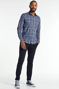 LERROS slim fit overhemd met all over print blauw, Blauw