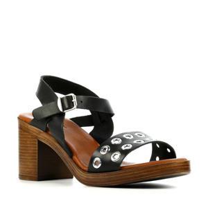 79252  leren sandalettes zwart