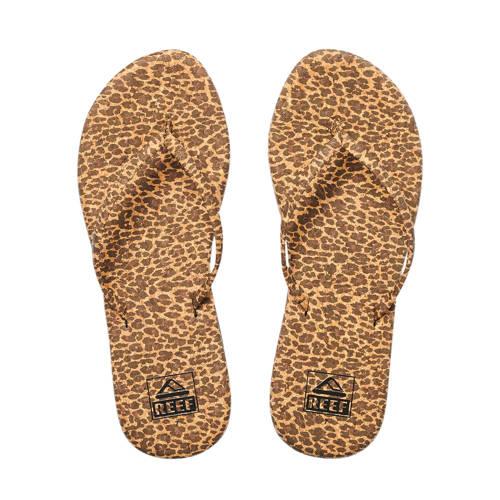 Reef Bliss Summer teenslippers panterprint bruin
